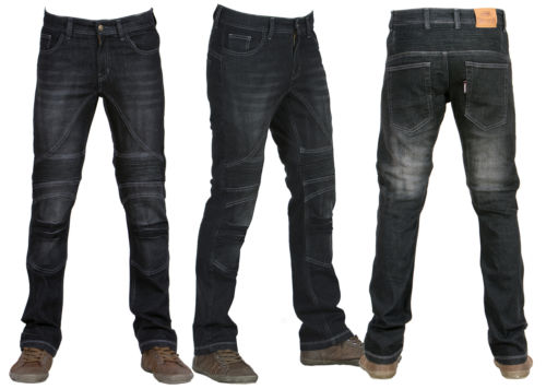 herren motorrad motorrad jeans r hrenjeans hose mit schutzauskleidung. Black Bedroom Furniture Sets. Home Design Ideas