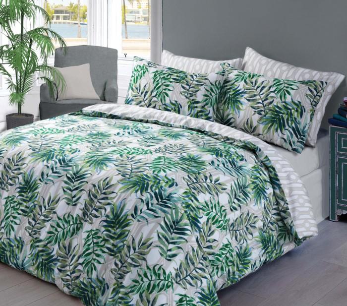 palme blatt bedruckt bettbezug fein bettw sche set alle gr en ebay. Black Bedroom Furniture Sets. Home Design Ideas