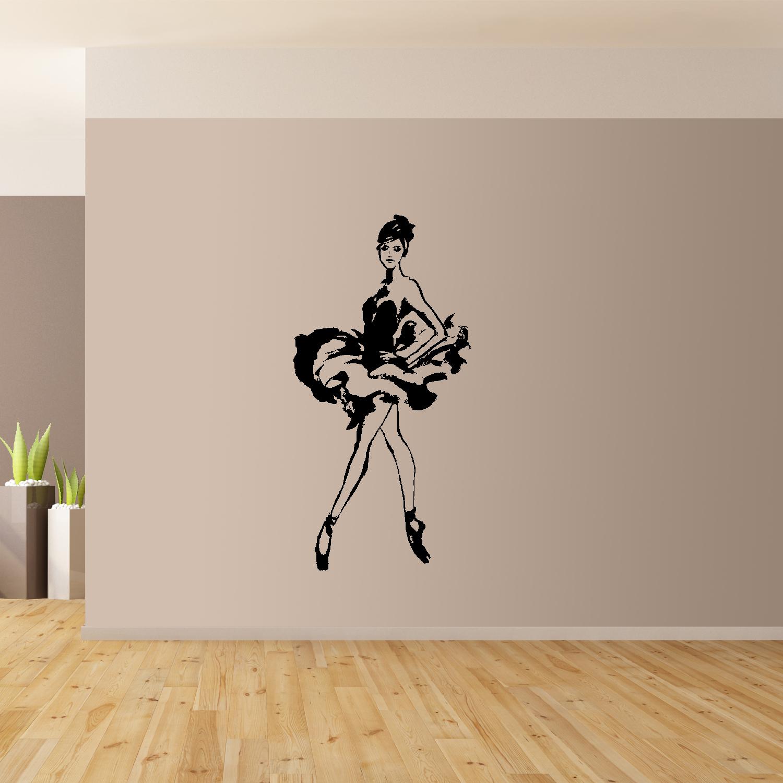 Ballerina-Danza-Classica-Da-Parete-Arte-Gigante-Adesivo-Murale-Grafico