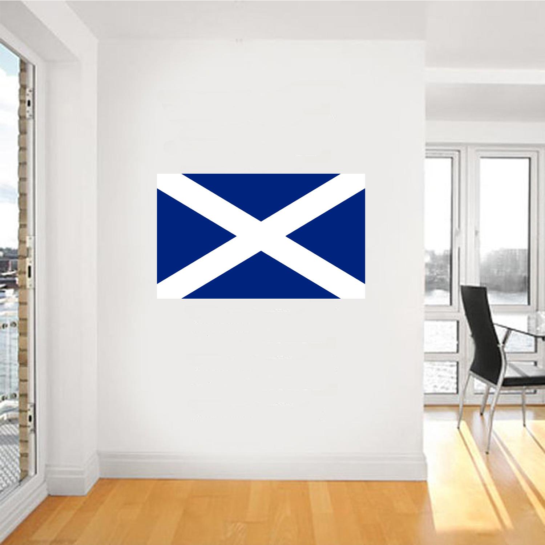 Bandiera-Scozzese-Da-Parete-Arte-Gigante-Adesivo-Murale-Grafico-Poster-FC008