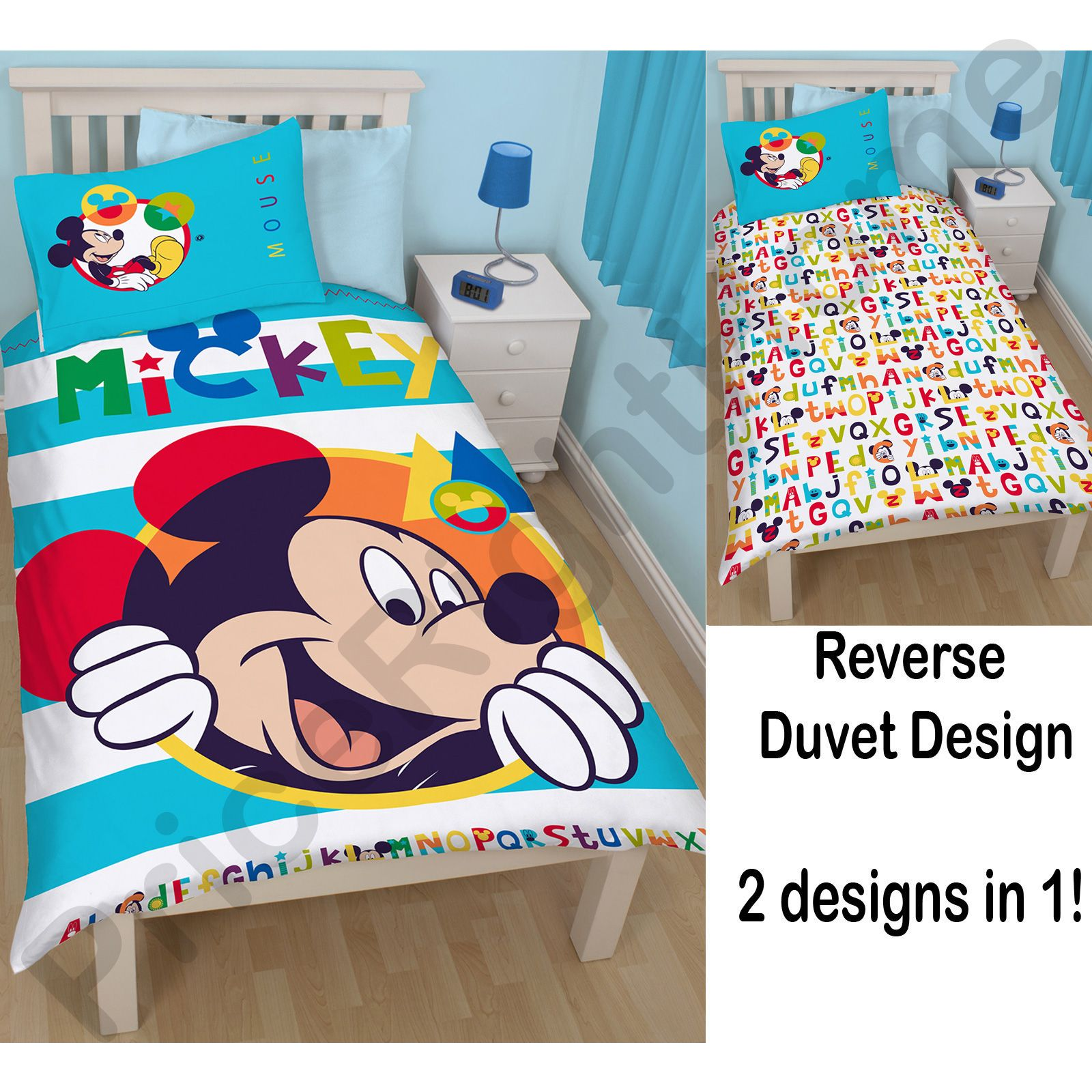 Mickey-Mouse-Housse-de-Couette-Ensembles-Disponible-en-Simple-amp-Double-Divers