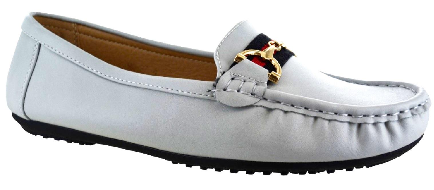 Details zu Damen Flache Slipper Arbeit Büro Schnalle Pumps Bequeme Schuhe Sz 3 8