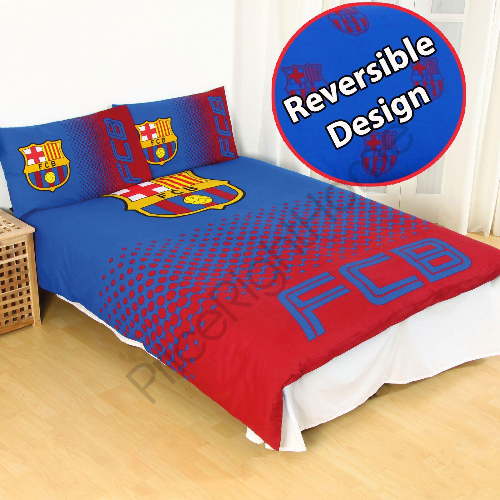 OFFICIAL FC BARCELONA DUVET COVER SETS BEDDING BEDROOM