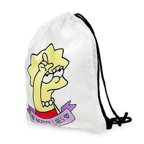 Boys Girls Drawstring PE Bag White Emoji Shoulder Backpack Hand Luggage Gym Bag