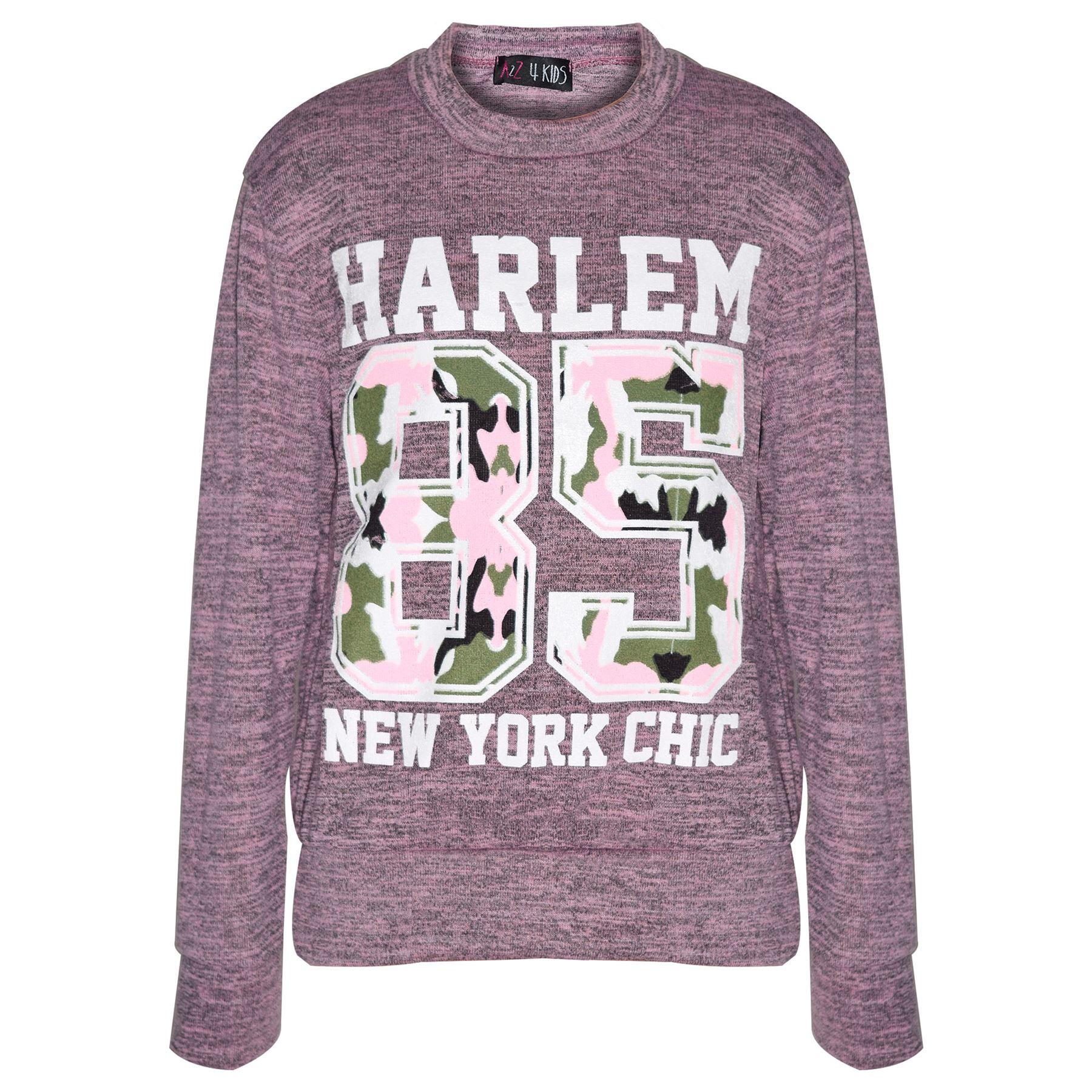 Enfants Filles 98 New York T-Shirt Imprimé /& Jogging Bas Legging Set Outfit 7-13
