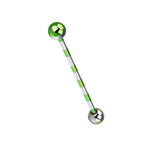 industrale-Piercing-Orecchio-Bilanciere-con-manubri-Helix-CARTILAGINE