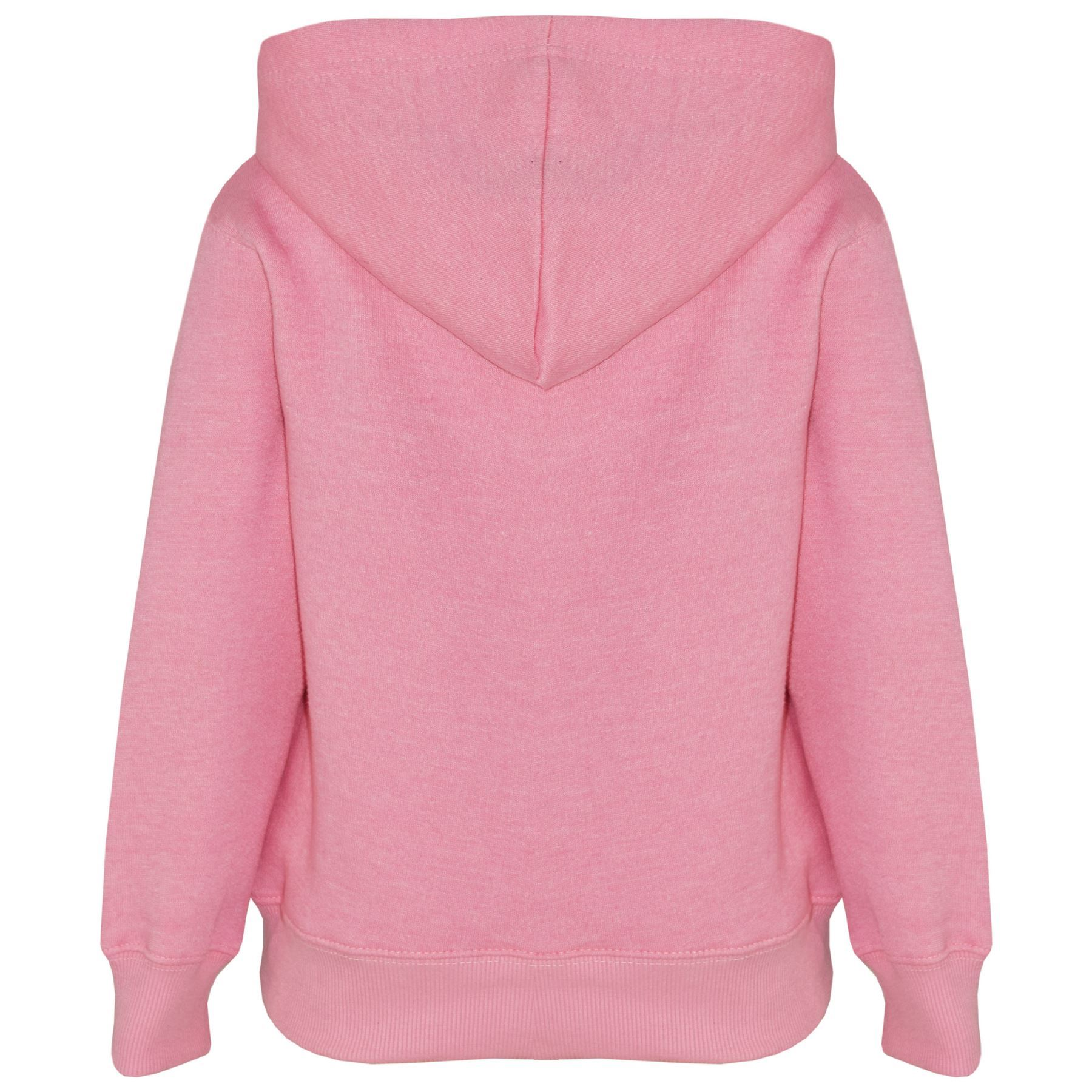 Kids Girls Boys Sweat Shirt Tops Plain Hooded Jumpers Hoodies New Age 2-13 Years