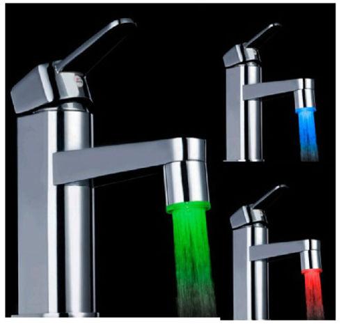 Capteur lumi re led eau robinet robinet temp rature pour cuisine salle de bain ebay - Lumiere led pour cuisine ...
