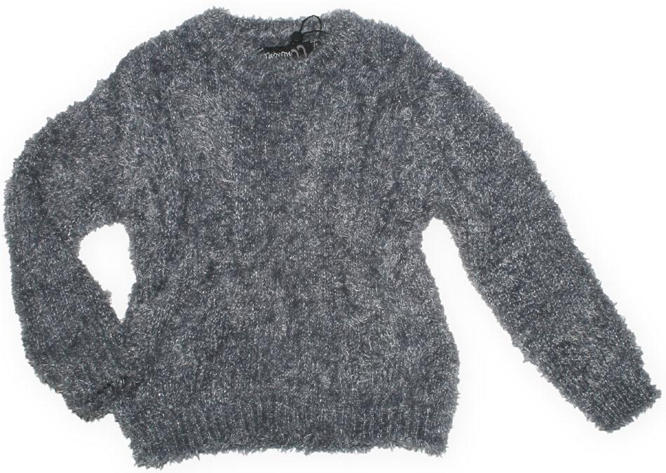 NEUF-gris-pull-confortable-souple-Pull-tricot-de-MINYMO-Choix-de-taille