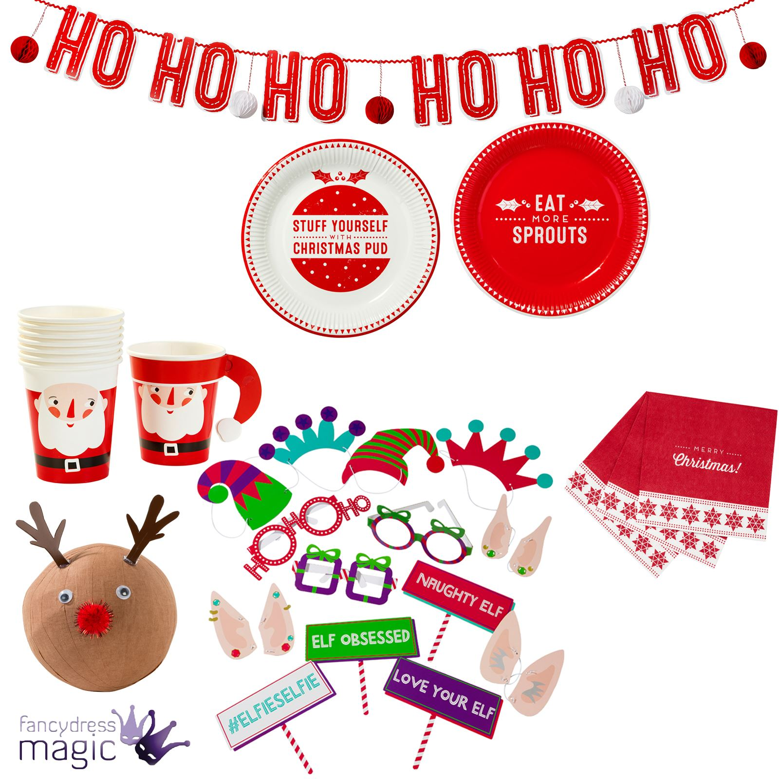 Talking tables weihnachten party kinder rudolph elf spa for Kinder party set