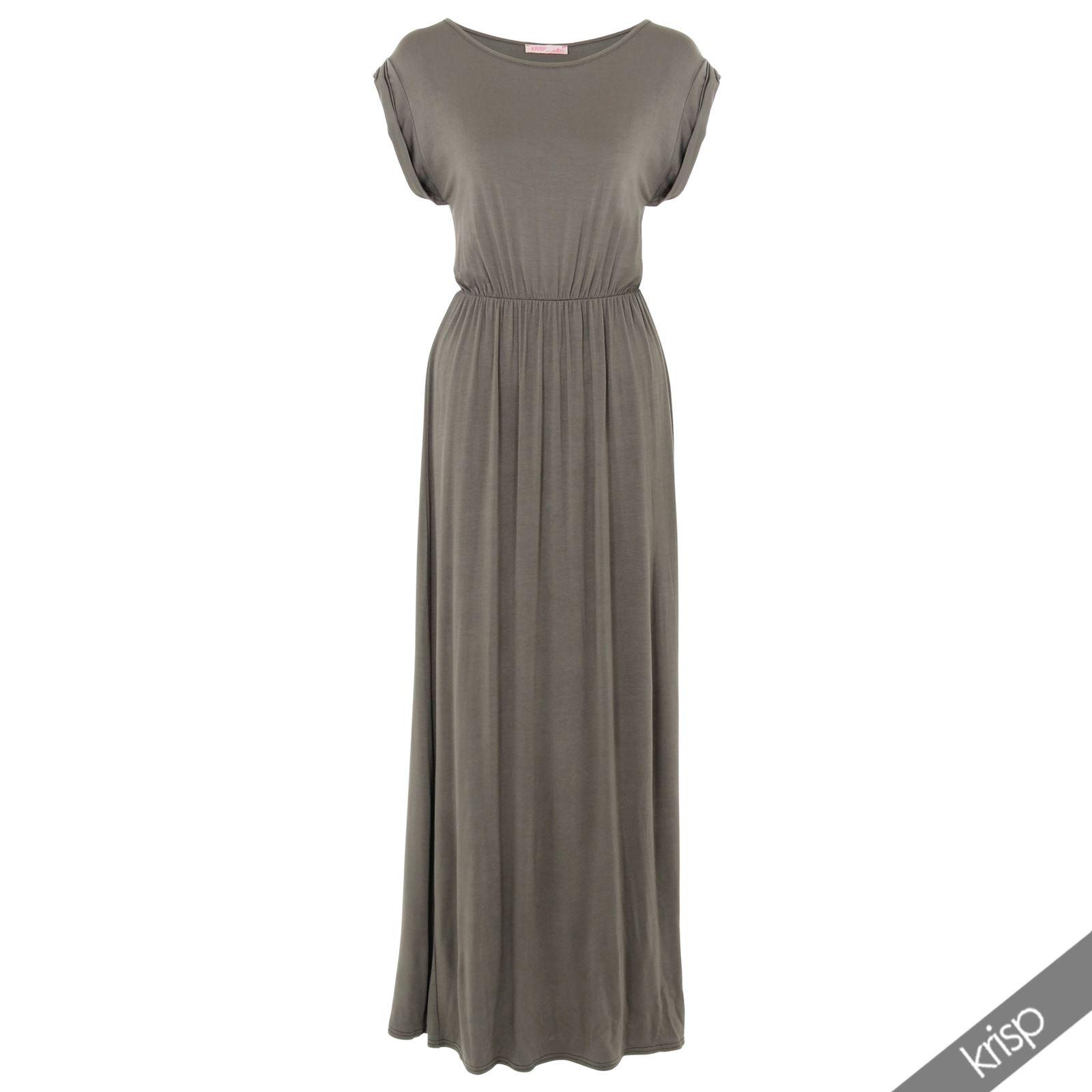 KRISP Womens Batwing Sleeve Top High Waist Long Jersey Maxi Dress Party Summer