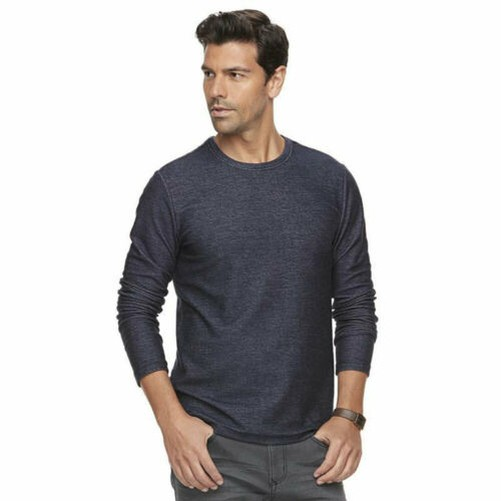 Marc-Anthony-Men-039-s-Long-Sleeve-Slim-Fit-French-Terry-Crew thumbnail 3