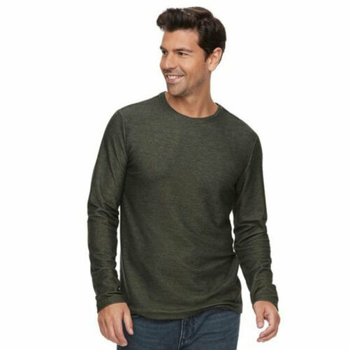 Marc-Anthony-Men-039-s-Long-Sleeve-Slim-Fit-French-Terry-Crew