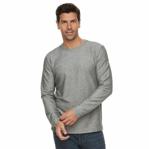 Marc-Anthony-Men-039-s-Long-Sleeve-Slim-Fit-French-Terry-Crew thumbnail 2