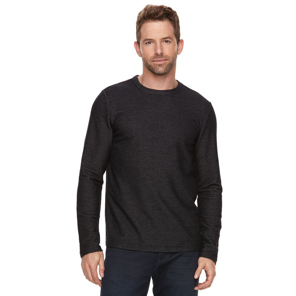 Marc-Anthony-Men-039-s-Long-Sleeve-Slim-Fit-French-Terry-Crew thumbnail 6
