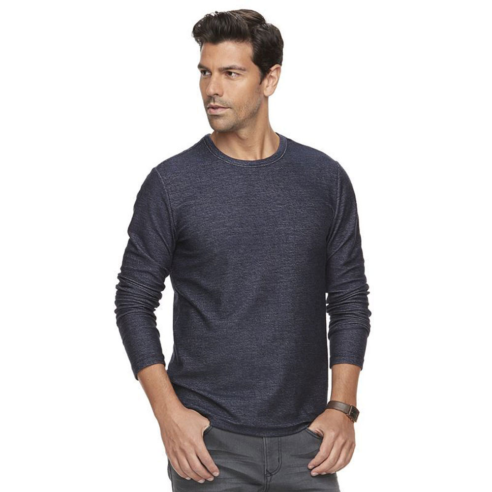Marc-Anthony-Men-039-s-Long-Sleeve-Slim-Fit-French-Terry-Crew thumbnail 7