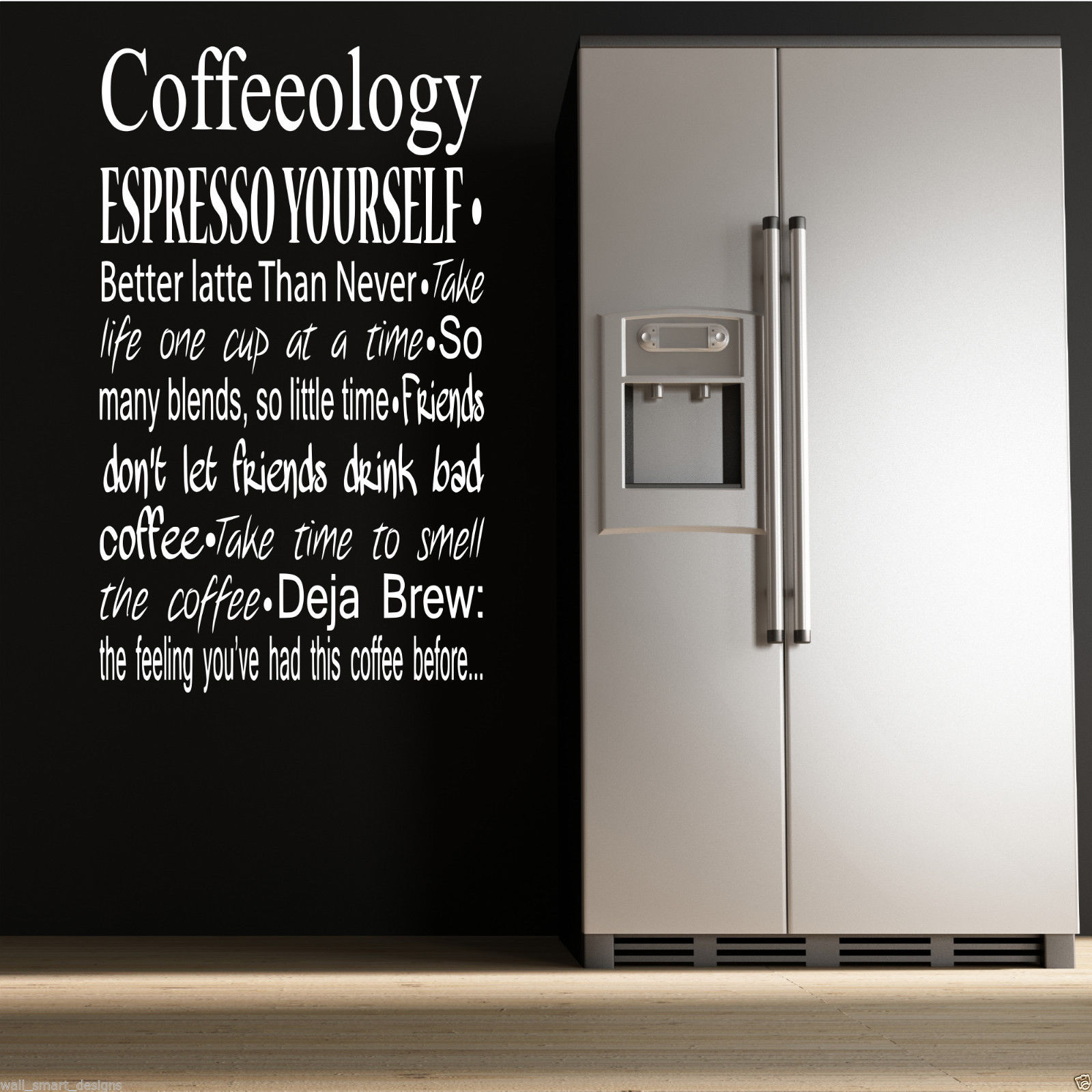 COFFEE COFFEEOLOGY KITCHEN Wall Art Sticker Quote Decal Mural