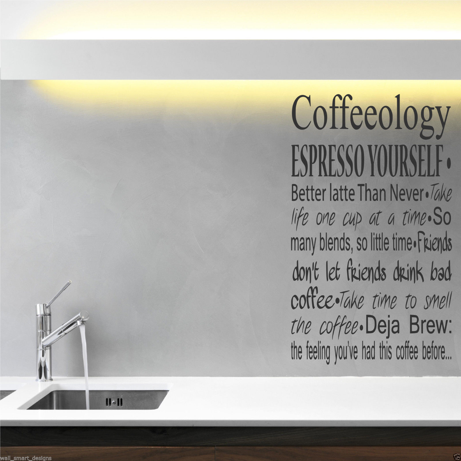 COFFEE COFFEEOLOGY KITCHEN Wall Art Sticker Quote Decal