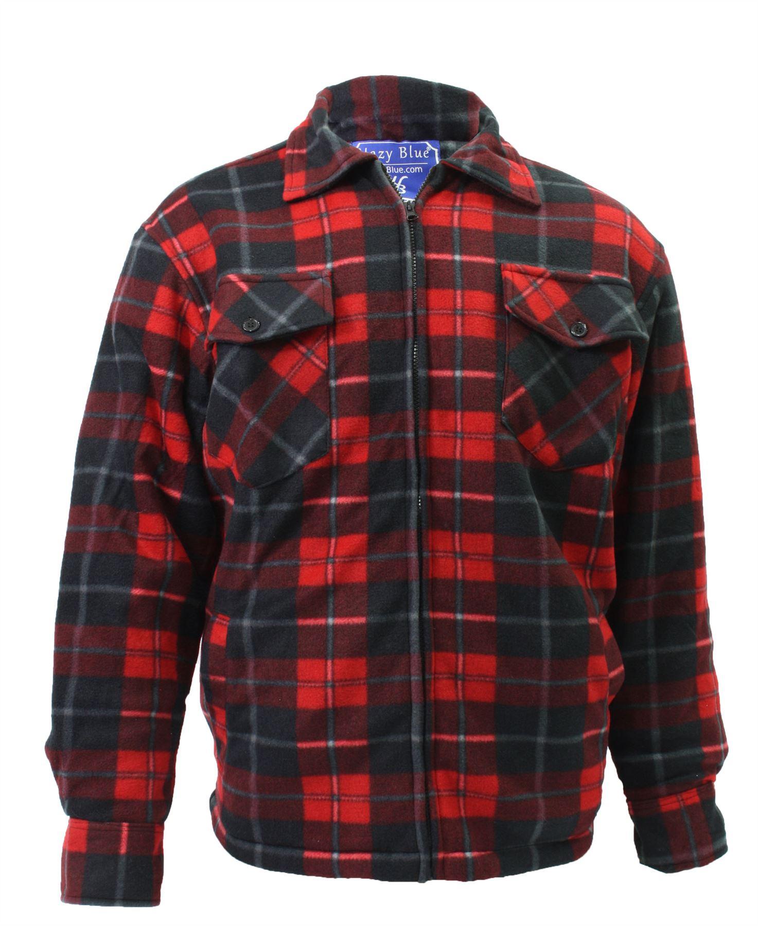Sean John Red And Black Lumberjack Jacket
