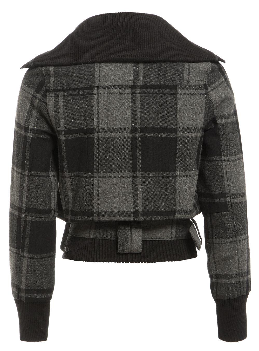 456d652d317f2 Lana para mujer chaqueta de Chicas Abrigo Talla 8 10 12 14 Negro ...