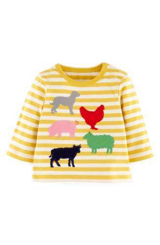 Mini baby boden jungen spa applikation t shirt top shirt for Mini boden schuhe