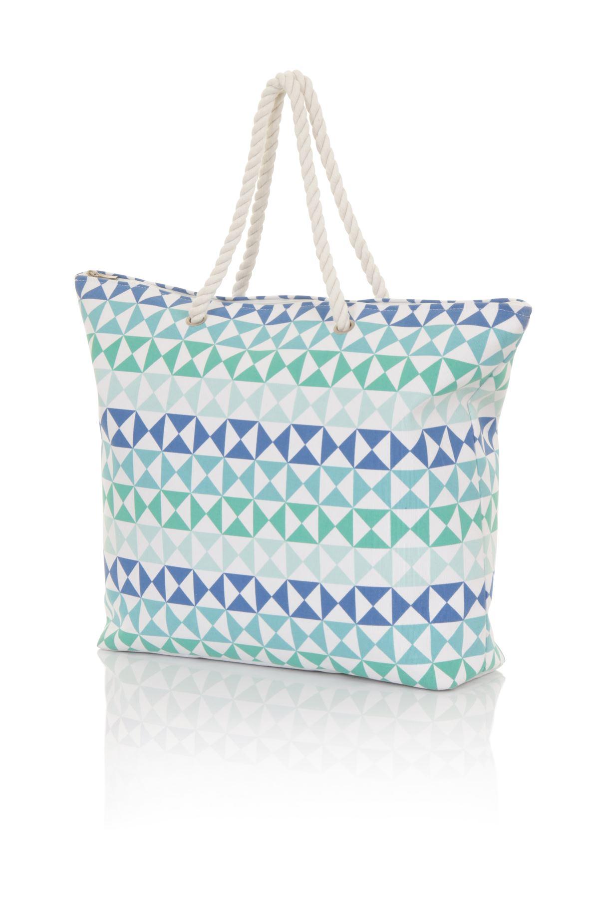Ladies canvas beach sun summer shoulder holiday bag