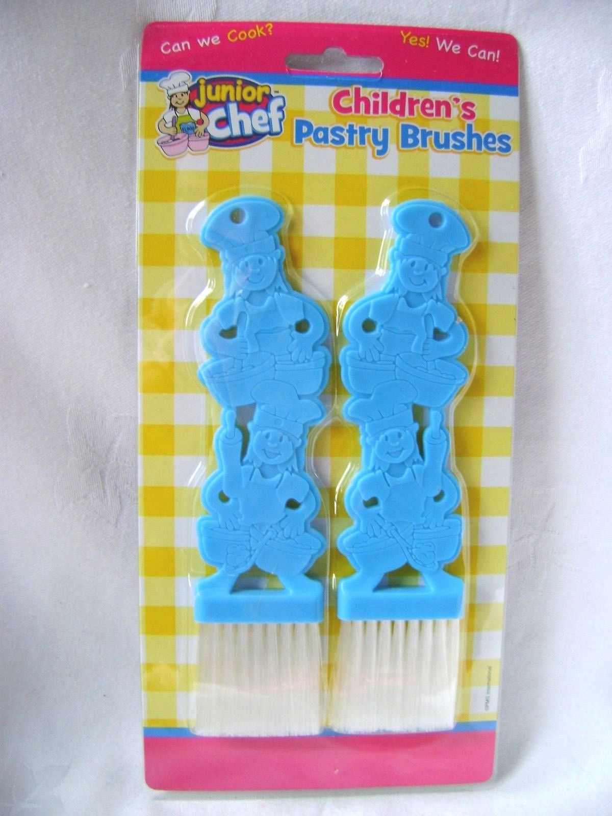 NEU-2er-Set-Kinder-Geback-Backen-Pinsel-Chef-Design-blau-oder-rosa-PMS-Verkauf
