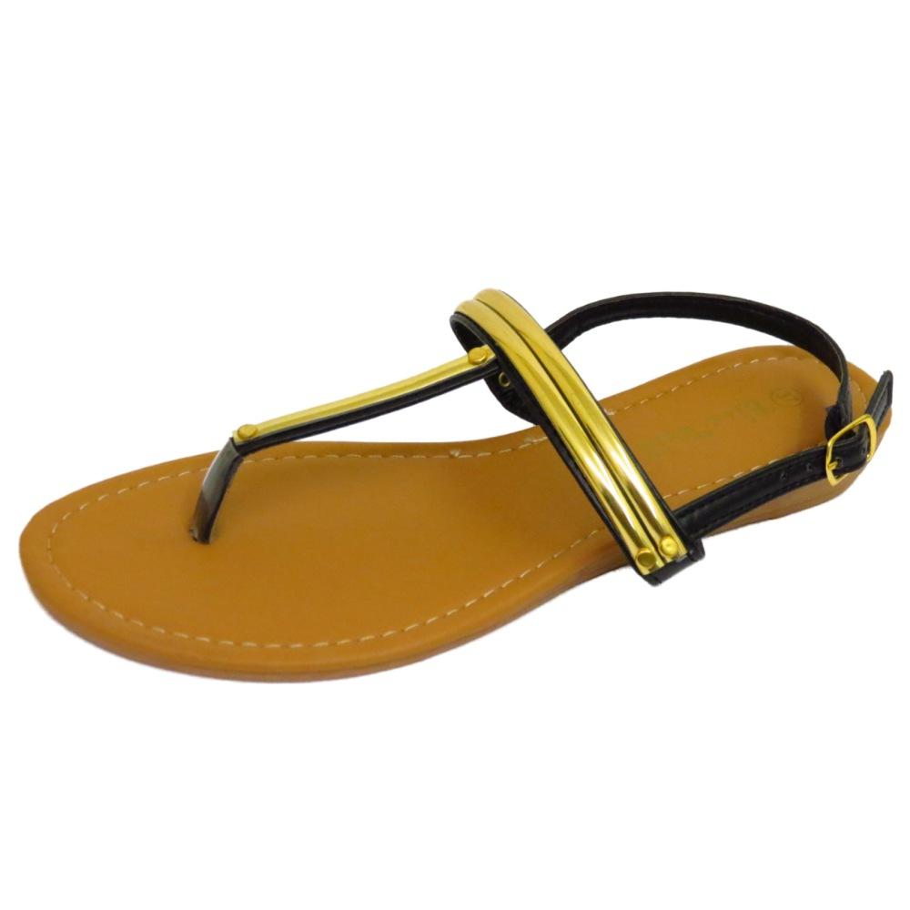 damen schwarz zehensteg sandalen flach flip flop schuhe urlaub sommer pumps. Black Bedroom Furniture Sets. Home Design Ideas
