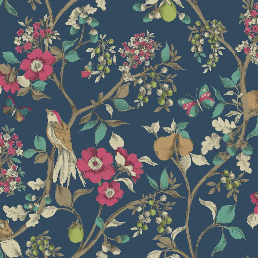 neuf holden d cor damsen motif fleur oiseau campagne m tallique or papier peint ebay. Black Bedroom Furniture Sets. Home Design Ideas