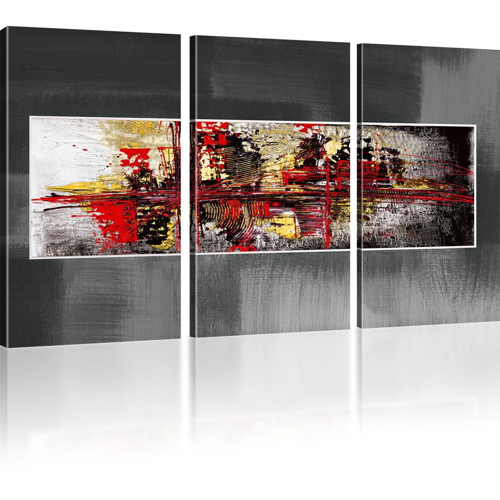 photo abstrait chaos tableau sur toile reproduction impression artistique ebay. Black Bedroom Furniture Sets. Home Design Ideas