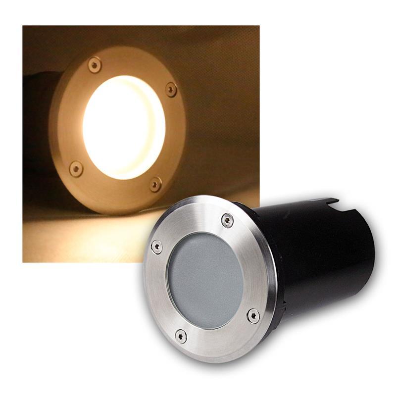 led projecteur encastr au sol lampe sur pied inox 3 5 7w de 230v spots ebay. Black Bedroom Furniture Sets. Home Design Ideas