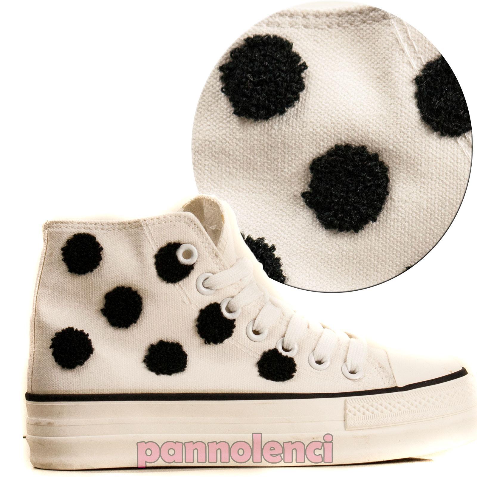 Zapatillas mujer lunares a contrastar zapatos de cordones deportivos 2013-010