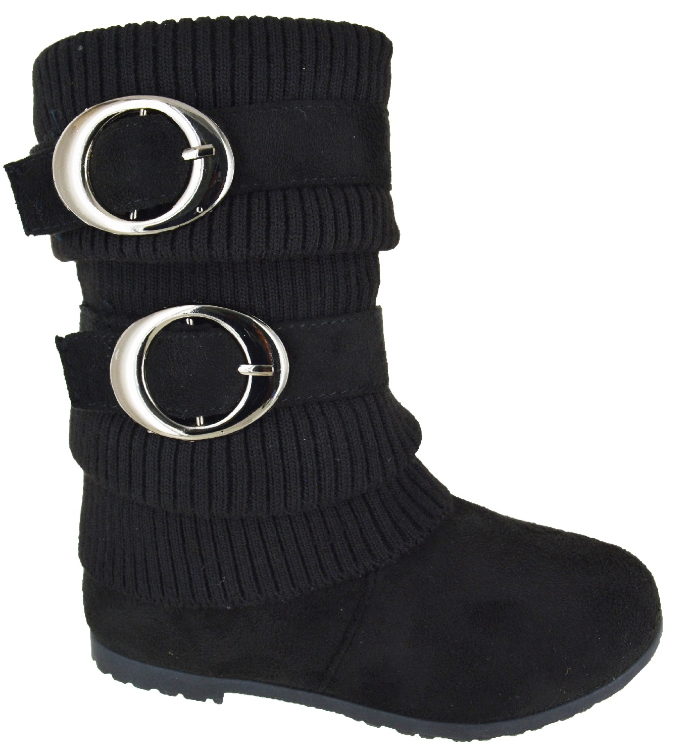 Toddler Kids Youth Girls Shoes Snow Mid Calf Boots Size Black Baby Infant