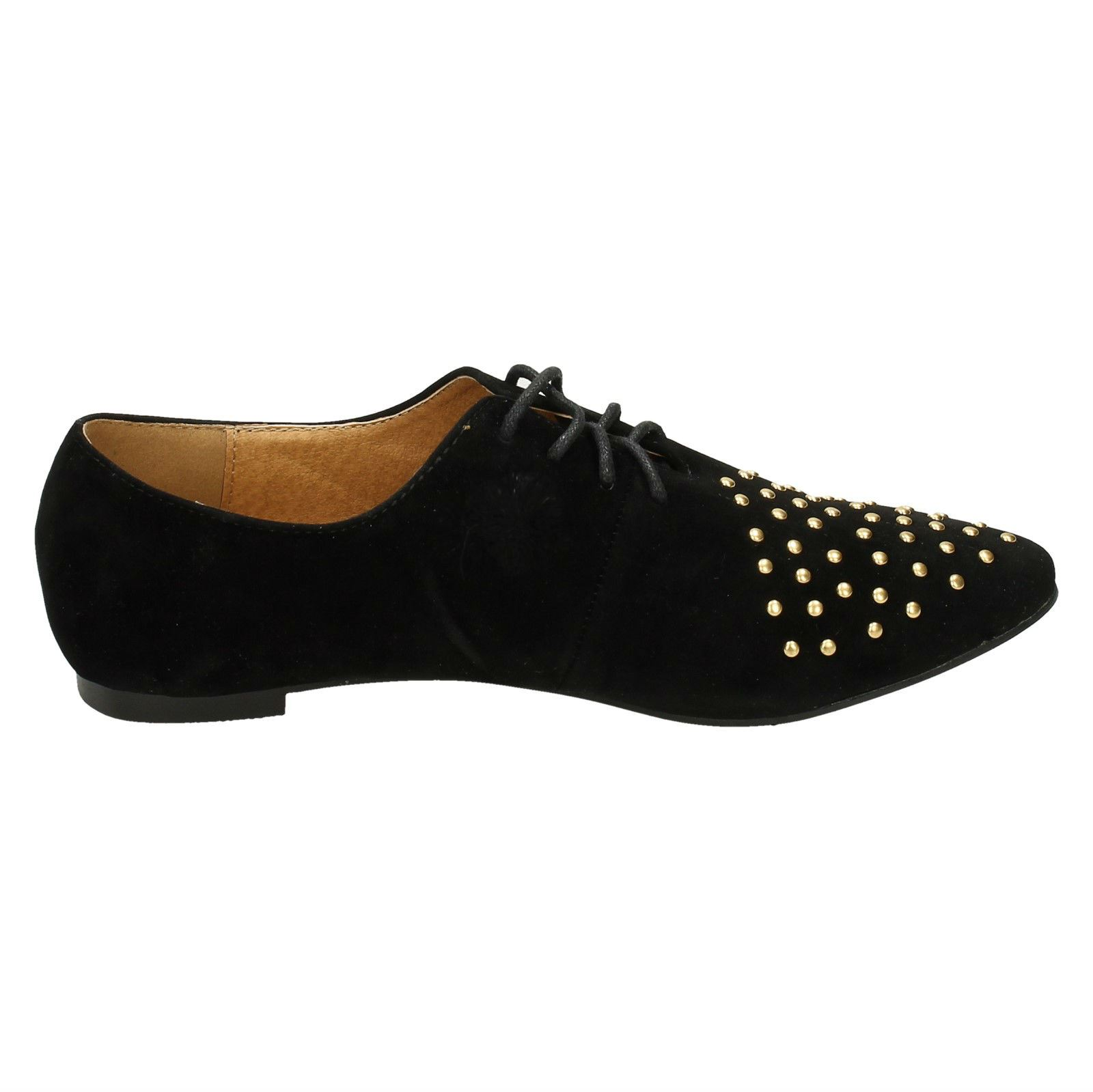 Spot-On-Ladies-Lace-Up-Shoes-with-Pointed-Toe thumbnail 7