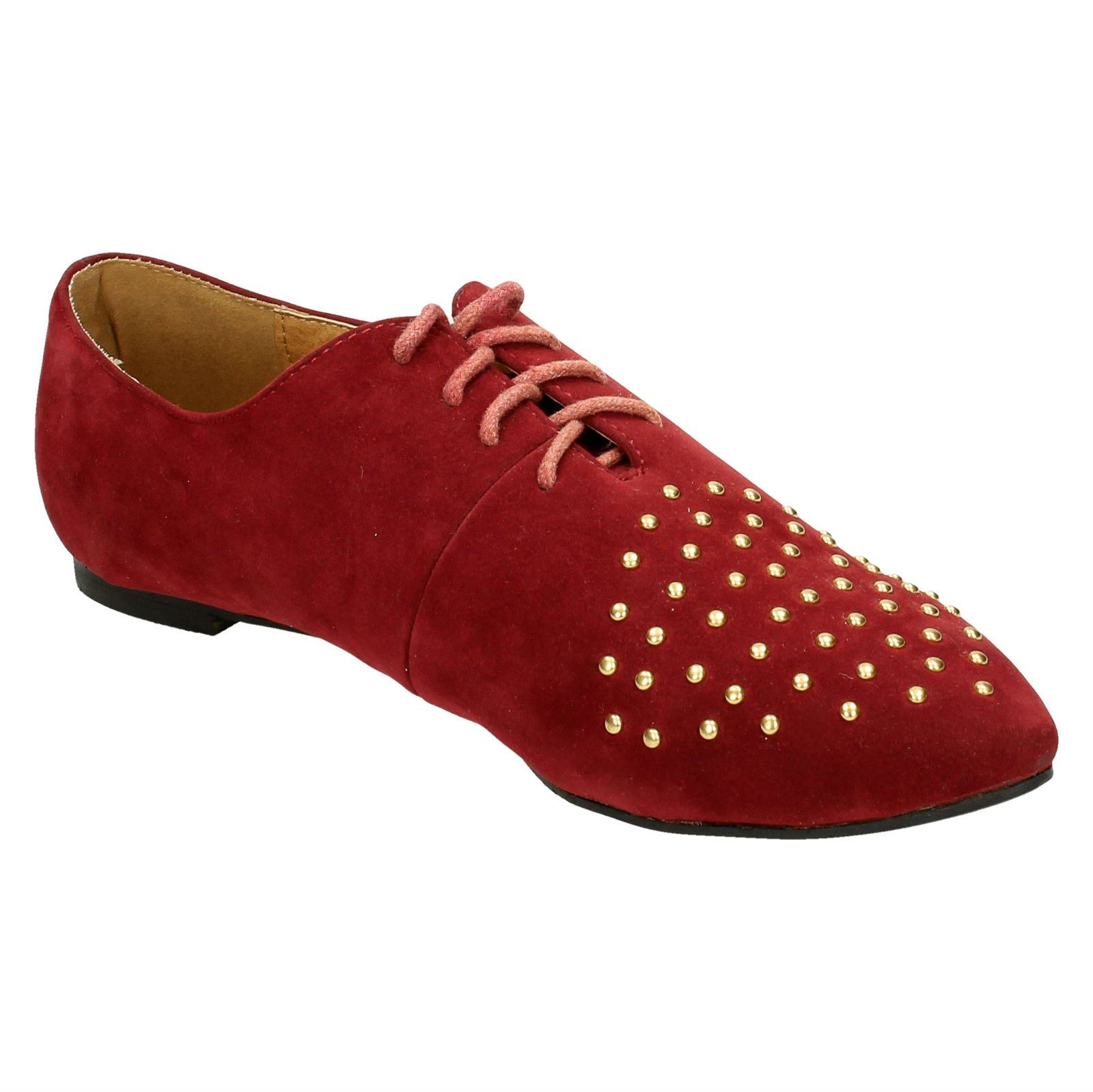 Spot-On-Ladies-Lace-Up-Shoes-with-Pointed-Toe thumbnail 17