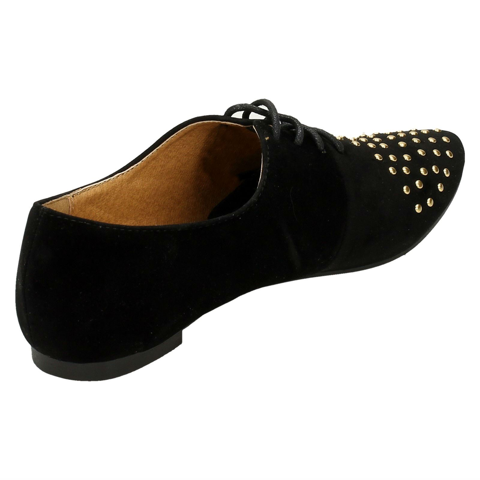 Spot-On-Ladies-Lace-Up-Shoes-with-Pointed-Toe thumbnail 6