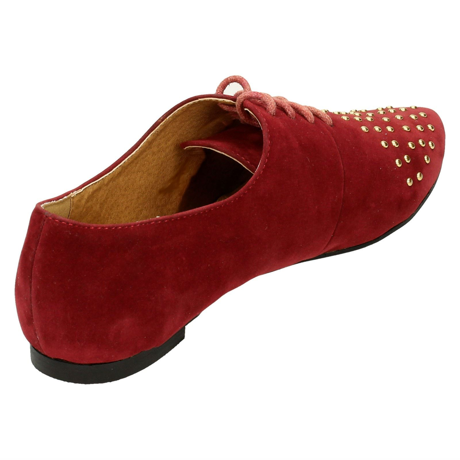 Spot-On-Ladies-Lace-Up-Shoes-with-Pointed-Toe thumbnail 15