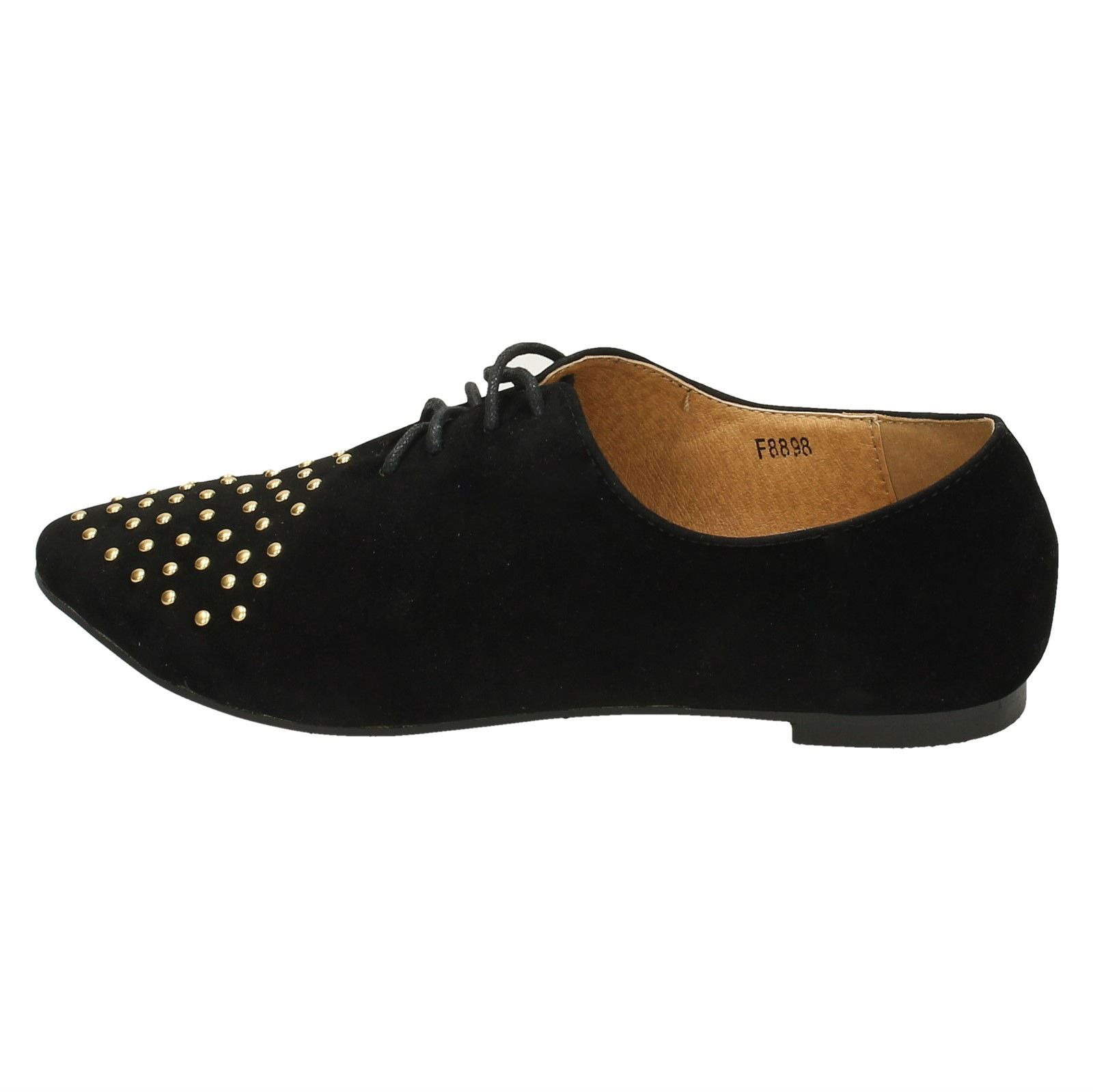 Spot-On-Ladies-Lace-Up-Shoes-with-Pointed-Toe thumbnail 3
