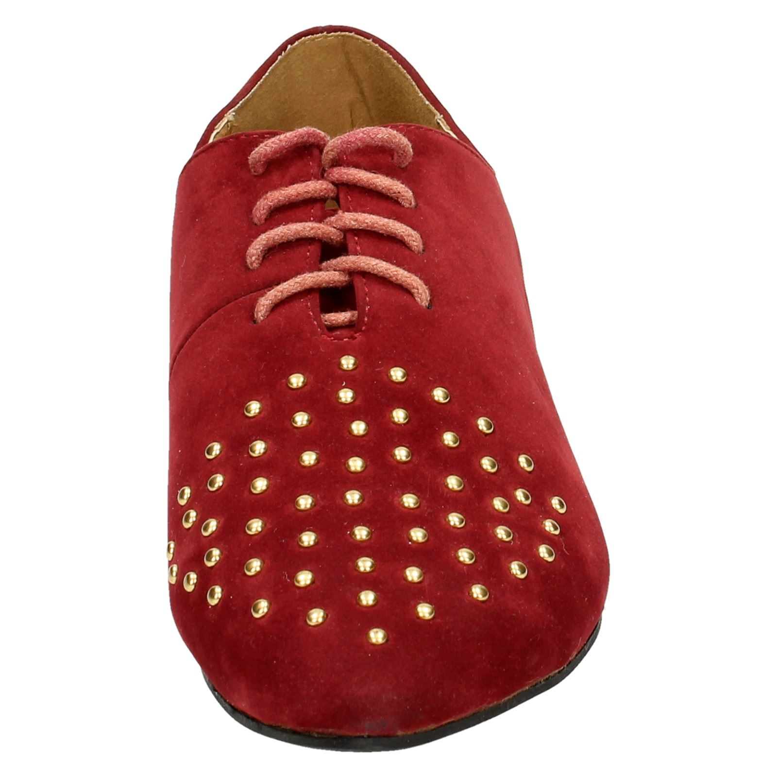 Spot-On-Ladies-Lace-Up-Shoes-with-Pointed-Toe thumbnail 18