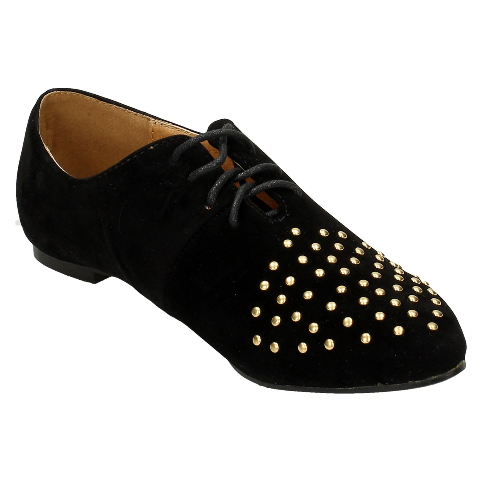 Spot-On-Ladies-Lace-Up-Shoes-with-Pointed-Toe thumbnail 8
