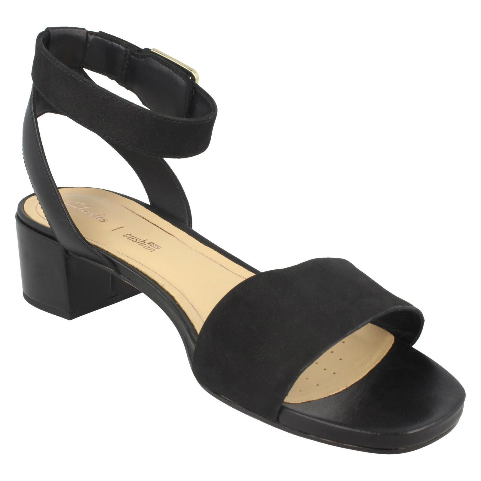 Clarks Ladies Low Heeled Peep Toe Sandals Orabella Rose