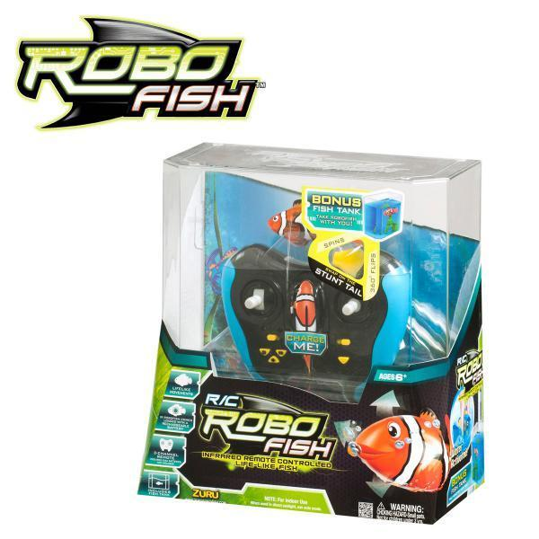 Genuine zuru rc robo fish robo mermaid tropical pirate for Zuru robo fish