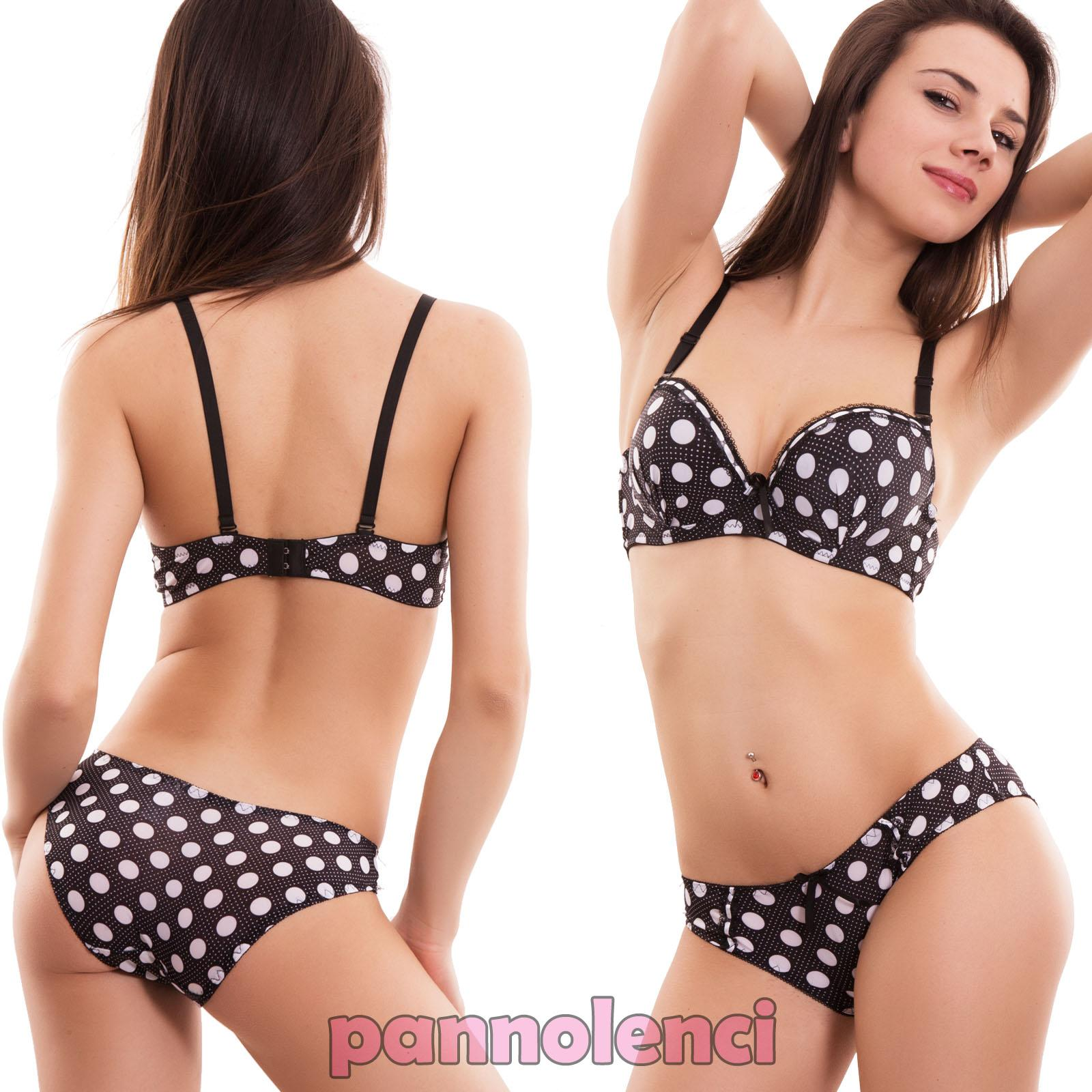 lingerie set set woman bra underwear POLKA DOT lingerie push up ...