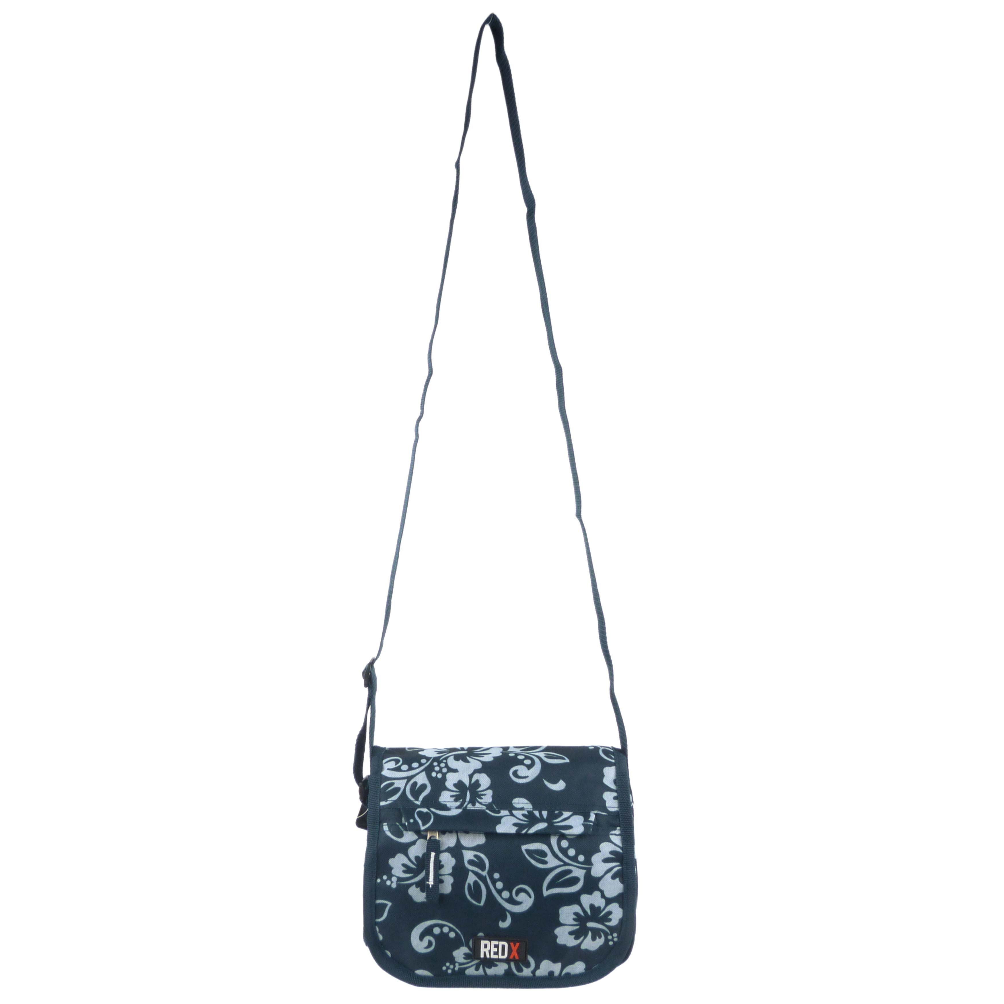 Ladies-Girls-Medium-Hibiscus-Shoulder-Travel-Cross-Body-Bag-by-RED-X-Floral thumbnail 4