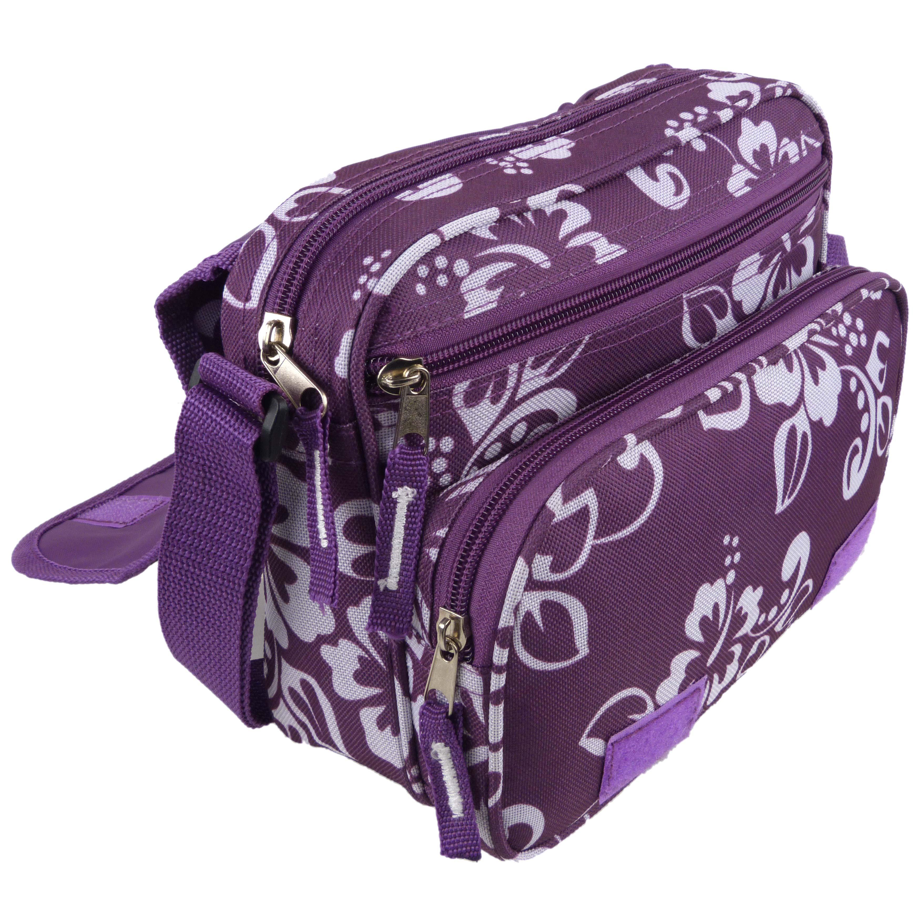 Ladies-Girls-Medium-Hibiscus-Shoulder-Travel-Cross-Body-Bag-by-RED-X-Floral thumbnail 13