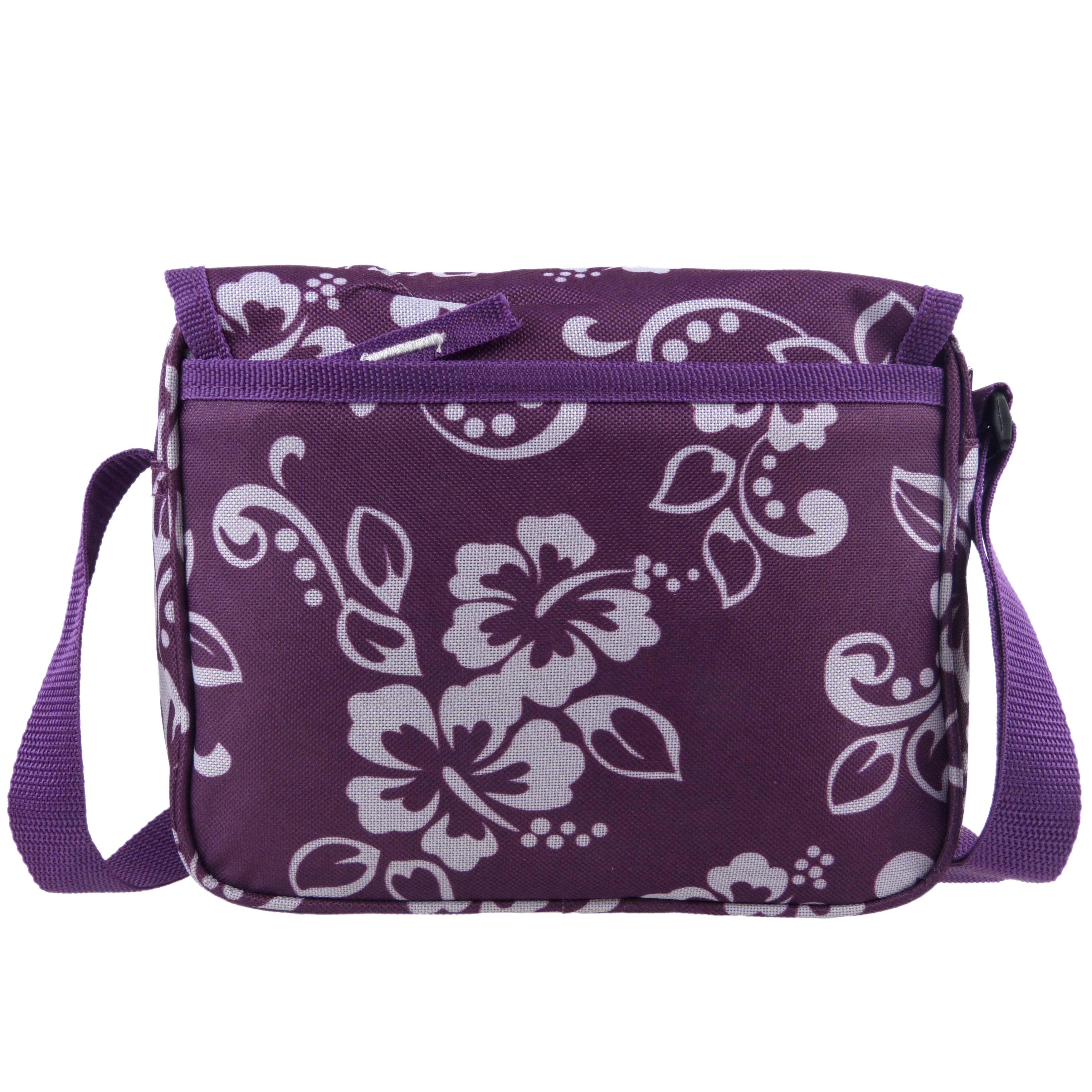 Ladies-Girls-Medium-Hibiscus-Shoulder-Travel-Cross-Body-Bag-by-RED-X-Floral thumbnail 14