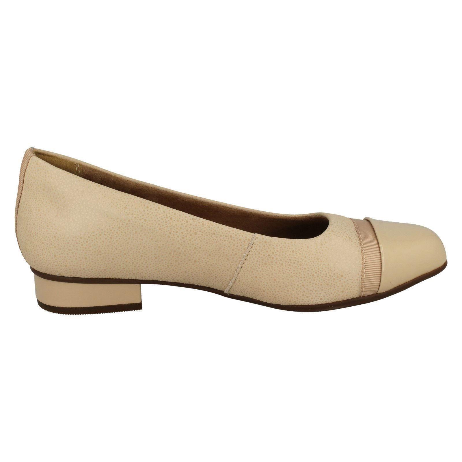 Damen-Clarks-Slipper-Leder-Ballerina-Stil-Flache-Keesha-Rosa Indexbild 43