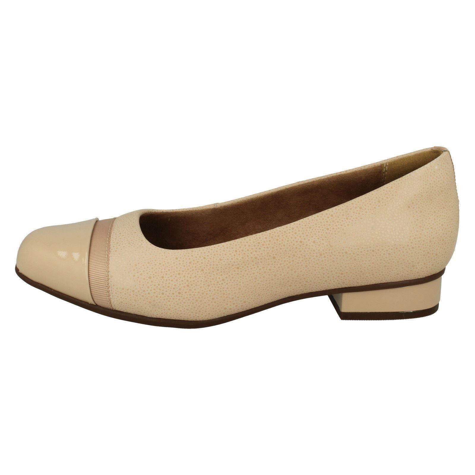 Damen-Clarks-Slipper-Leder-Ballerina-Stil-Flache-Keesha-Rosa Indexbild 39