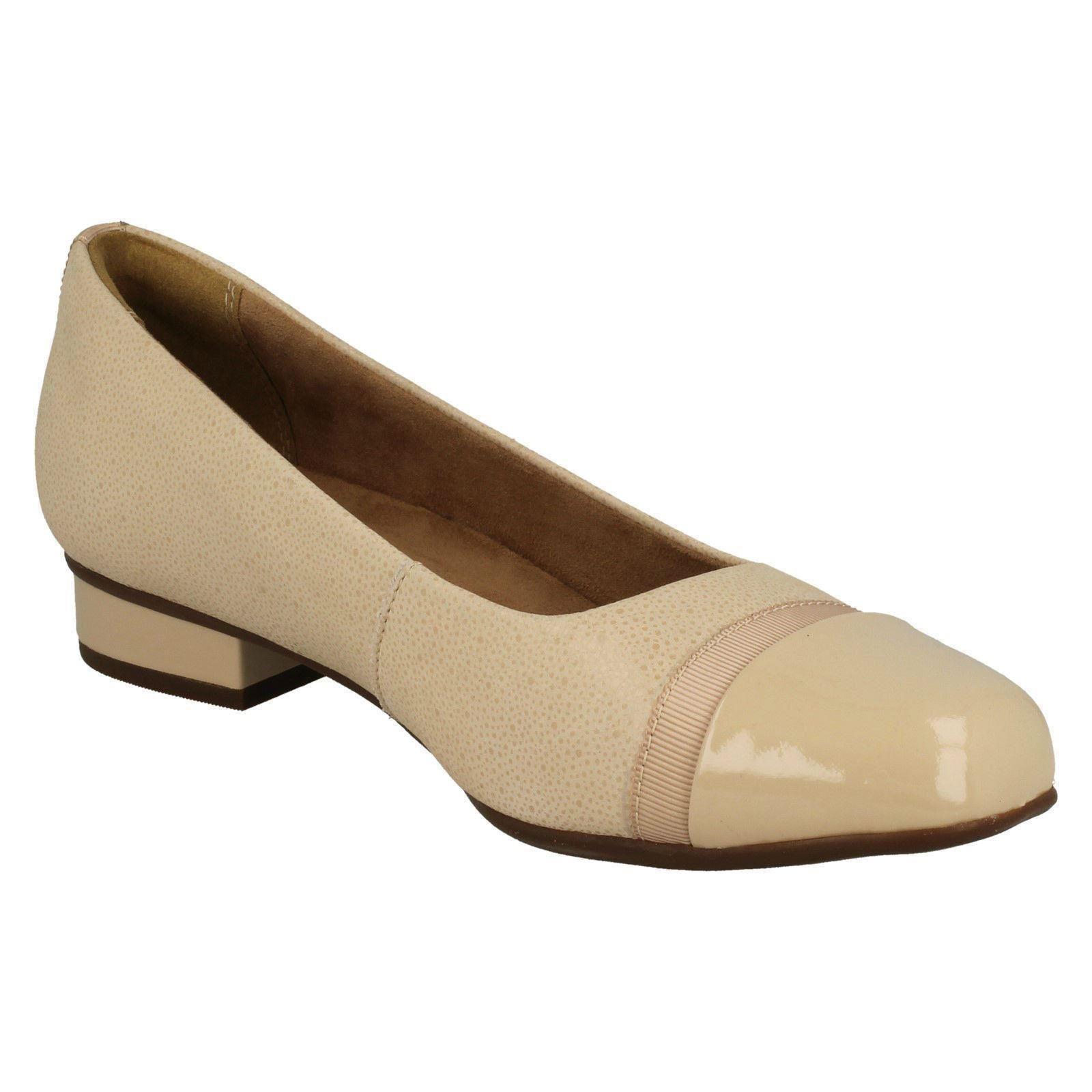 Damen-Clarks-Slipper-Leder-Ballerina-Stil-Flache-Keesha-Rosa Indexbild 44