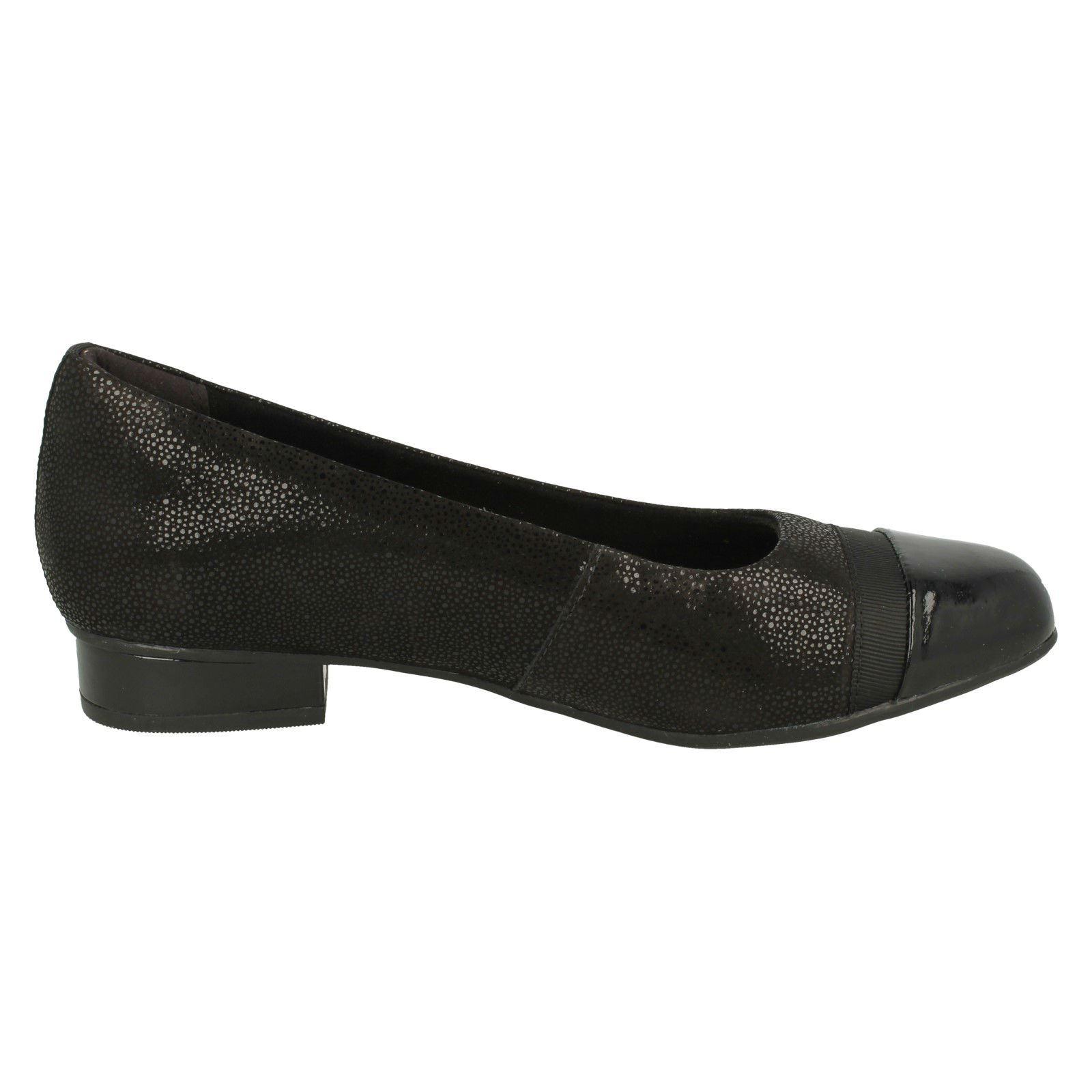 Damen-Clarks-Slipper-Leder-Ballerina-Stil-Flache-Keesha-Rosa Indexbild 25